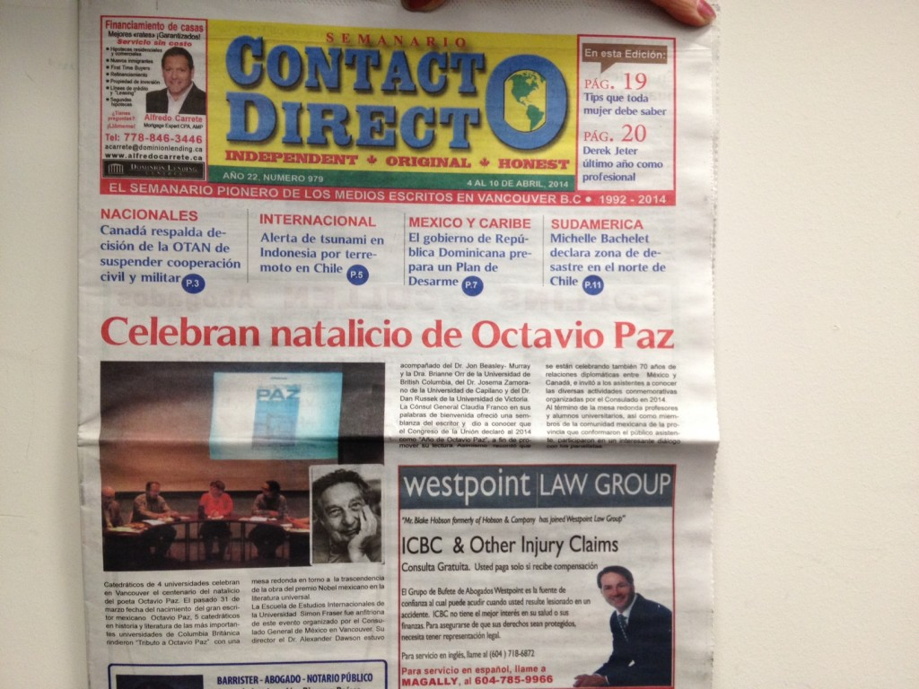Octavio Paz event